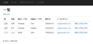 言語設定日本語の一覧画面