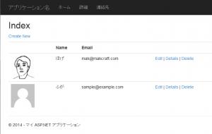 Index 画面