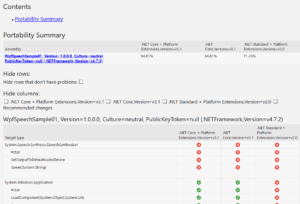 .NET Portability Report の画像