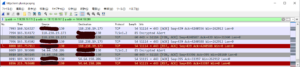 両ファイルの転送終了後ソケットが閉じられたときの Wireshark の表示